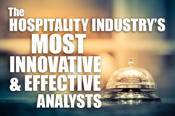 The hospitality industry's most innovative and effective analysts!