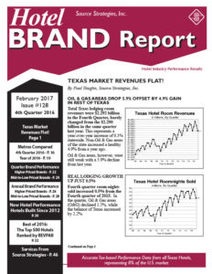 Hotel Brand Report #128 - February 2017 - Source Strategies
