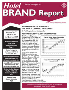 Hotel Brand Report #130 - August 2017 | Source Strategies